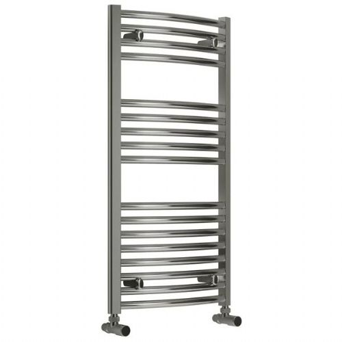 Reina Diva Curved Thermostatic Electric Towel Rail - 800mm x 500mm - Chrome